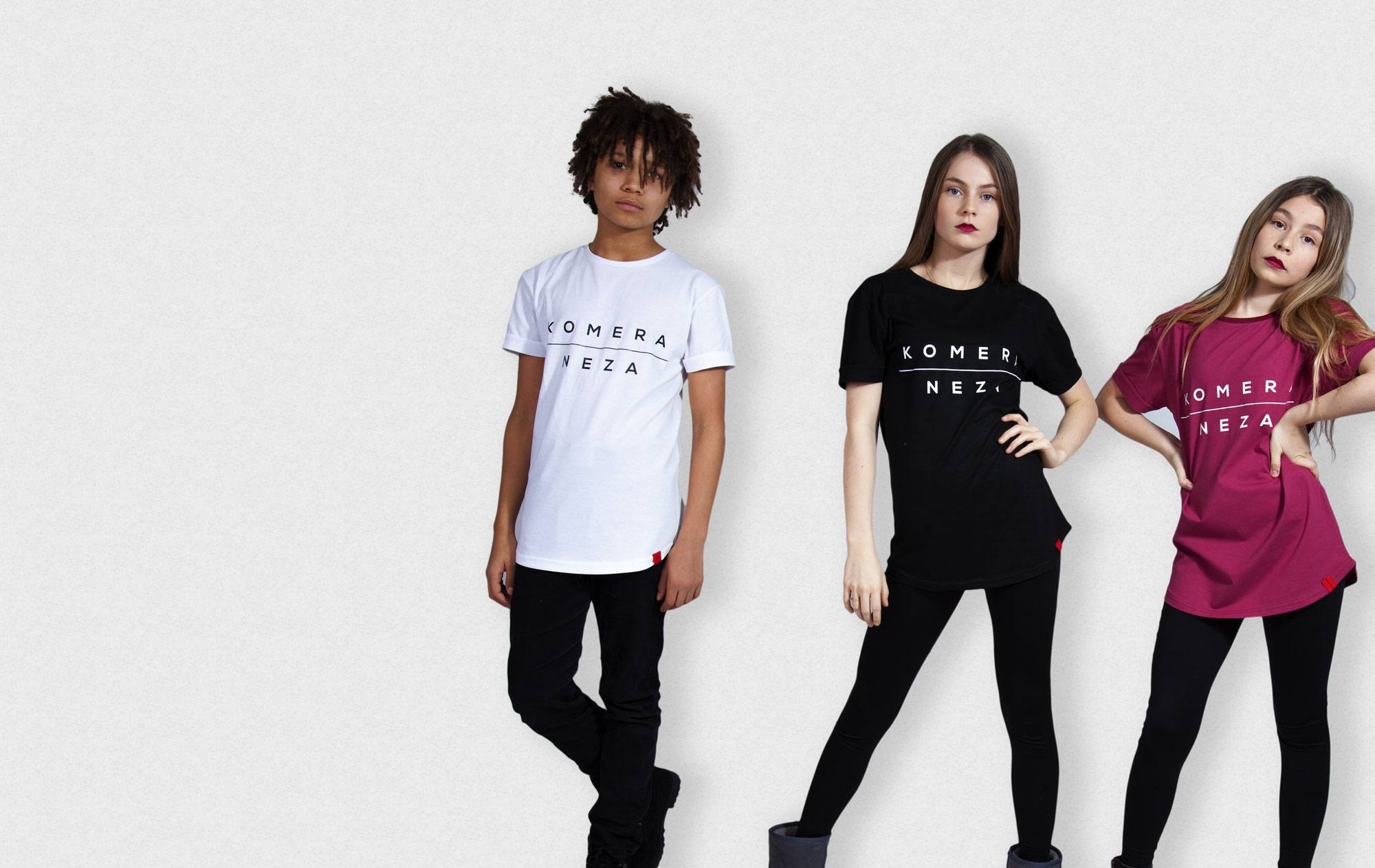Kids in white black and red t-shirt from KOMERA NEZA dance school